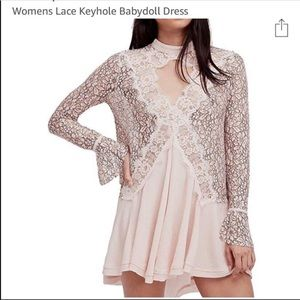 Free People Lace Babydoll Dress